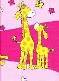 Ložní dětské povlečení bavlna , do dětské postýlky ,,Žirafka růžová,,