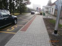 Dobroměřice - přechod pro chodce, zastávky