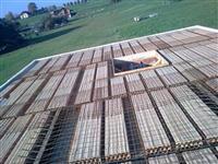 výztuž stropu před betonáží