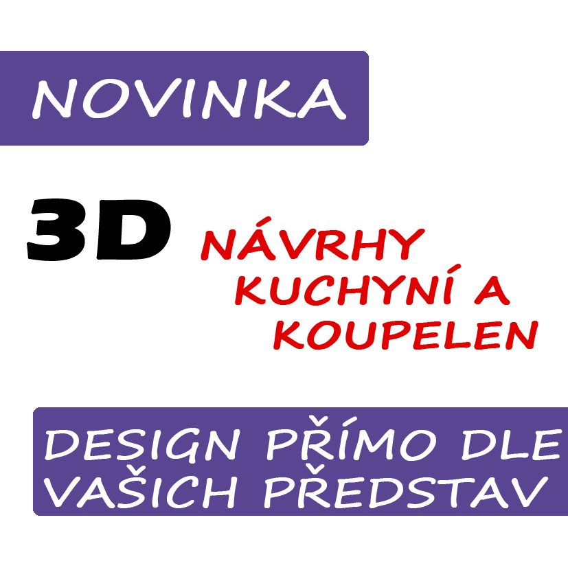 3D nvrhy koupelen a kuchyn na mru