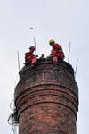 ice komina Alfatex Pelhrimov priprava na demolici kominove hlavy