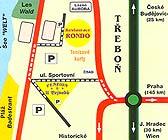 mapa - Ubytování Jižní Čechy - Třeboň | Penzion U Vejvodů