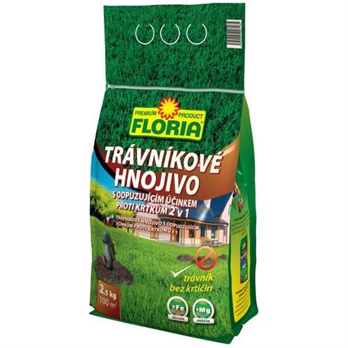 Trávníkové hnojivo s odpuzujícím účinkem proti krtkům
