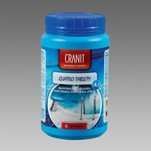Cranit Quatro tablety - dezinfekce, proti řasám, vločkování, stabilizace