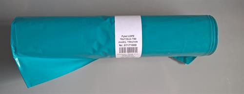 Pytle na odpad 70cm x 110cm (120 litrů), 80mikronů, modré