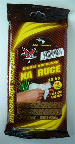 CLEANFOX vlhčený ubrousek Čistič rukou Aloe vera 30ks