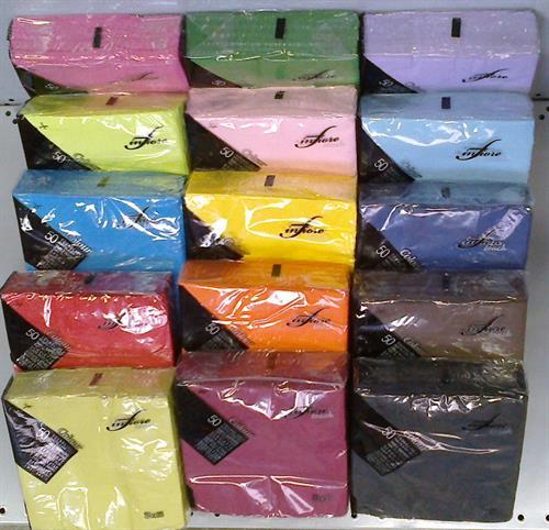 Papírové ubrousky INFIBRA barevné 33x33cm