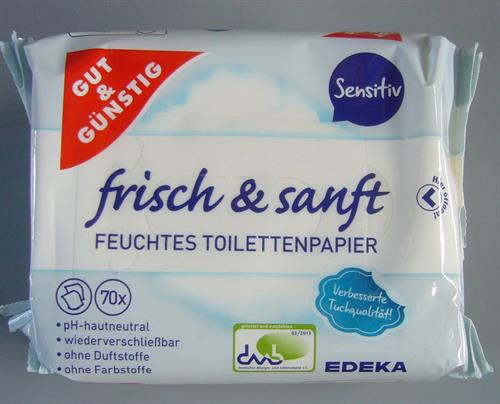 Vlhčený toaletní papír 140ks Gut&Günstig