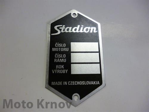 štítek typový - černý (Stadion)