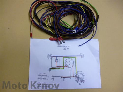 elektroinstalace  JAWA 50 typ 20, 21 (30W)