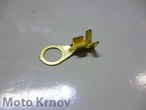 Kabelové oko 6,2mm drát 0,8-4mm lisovací