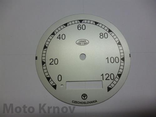 ciferník tachometru 120 km ( Pérák FJ )