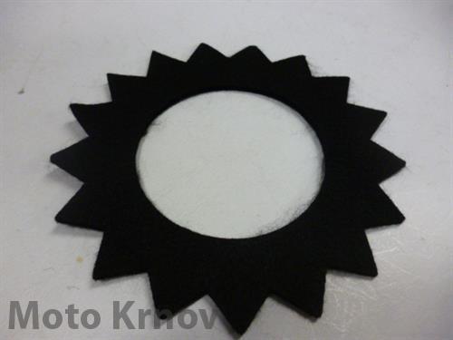 filc zátky nádrže-hvězda/černý