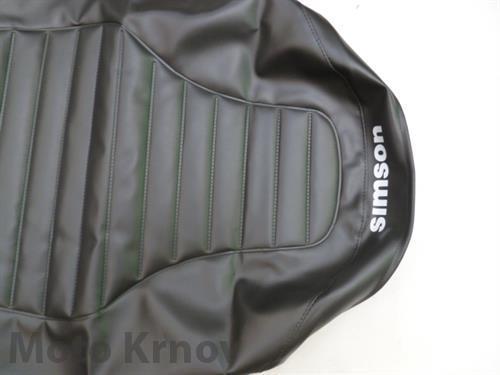 potah sedla - černý ( Simson-SR ) lisovaný
