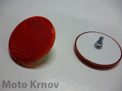 odrazka kulatá - červená, 62mm ( UNI ) se šroubem