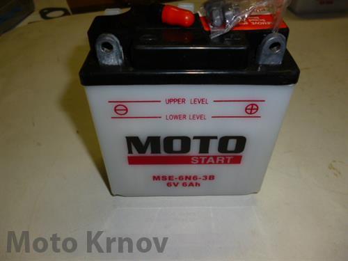akumulátor 6N6-3B  MOTOSTART (6V 6Ah)