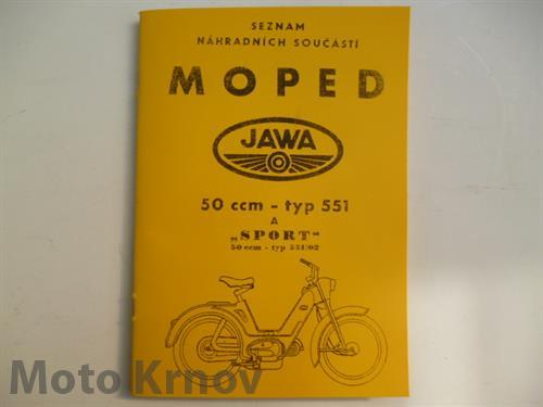 """Katalog ND JAWA 50 typ 551 a """"SPORT"""""""